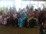 Penduduk Kg. Bentutai yang hadir di majlis penyampaian sumbangan